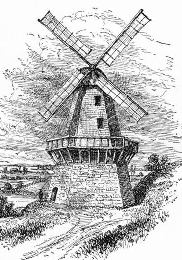 Windmills were turned in such a way that they transmitted in Morse code.